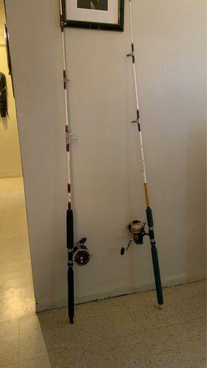Penn senator + custom built Fishing rods for Sale in New York, NY