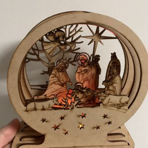 New Wooden Christmas nativity with light for Sale in Hollywood, FL