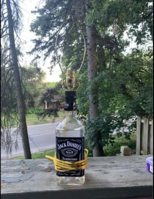 Whiskey bottle lamp for Sale in Peoria, IL