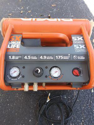 Ridgid dual tank compressor 175 psi for Sale in Largo, FL