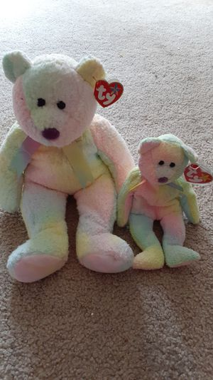 Rare pair of big and small TY Beanie Babies Groovy for Sale in Kent, WA