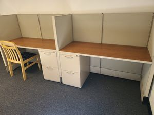 OFFICE CUBICALS WITH FILING CABINET STORAGE for Sale in Phoenix, AZ