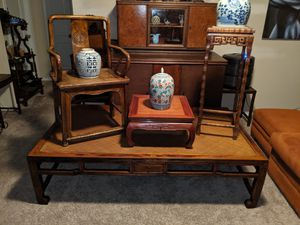 LOT OF RARE ANTIQUE CHINESE FURNITURE AND DECOR! for Sale in Austin, TX