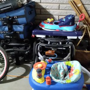 Luggage($45),2 Stroller/1 double($80), 2 kid Walkers($45) for Sale in Conyers, GA