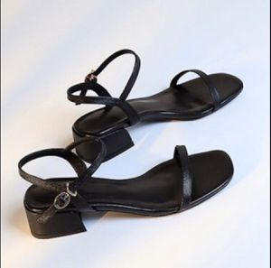 NEW Black Square Toe PU Leather Block Heels for Sale in Queens, NY