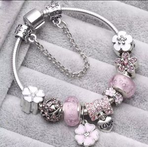 NEW Silver and pink charm bracelet for Sale in Lake Tapps, WA