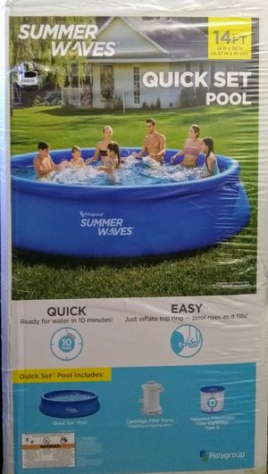 Summer Waves Quick Set Swimming Pool 14ft x 36in for Sale in San Diego, CA