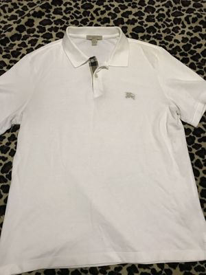 Burberry Check Placket Cotton Polo Shirt for Sale in Cleveland, OH
