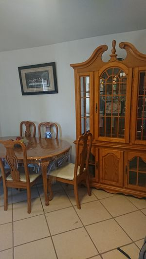 China cabinet and matching table for Sale in Laveen Village, AZ