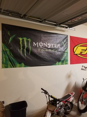 Monster energy banner mx garage decoration for Sale in Mesa, AZ