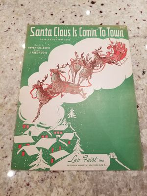 Santa Claus is coming to town sheet music for Sale in Houston, TX