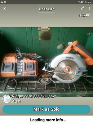 Rigid Cordless Skill Saw for Sale in Eau Claire, WI