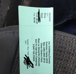 3 Day GA Summer Camp Tickets for Sale in GERMANTWN HLS, IL