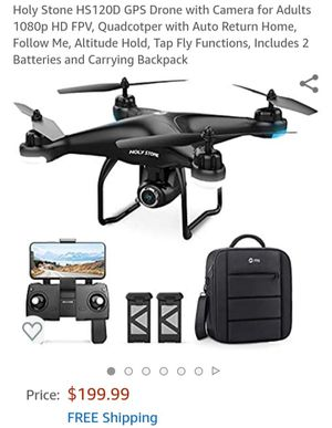 Holy Stone HS120D GPS Drone with 1080P Camera for Sale in Brooklyn Park, MD