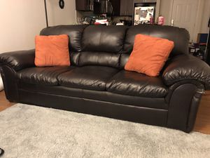 3-Seat Leather Sofa for Sale in Gaithersburg, MD