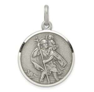 """Solid Sterling Silver """"St. Christopher"""" Medal - Engravable for Sale in Wichita, KS"""