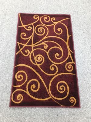 Burgundy and brown color door mat area rug for Sale in Salem, OR