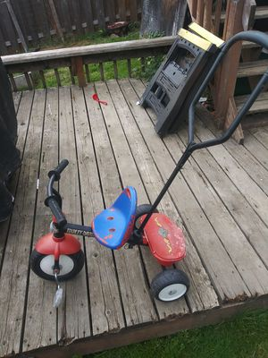 Harley davidson kids trike with handle for Sale in Portland, OR
