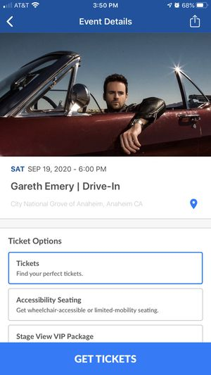 Ticket for Gareth Emery show TONIGHT 9/19 for 1 Car GA! Please serious inquiries only ! for Sale in Rancho Santa Margarita, CA