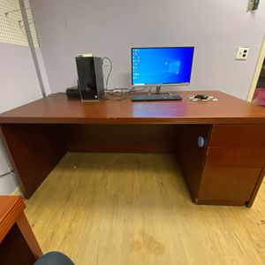 Desk And Credenza for Sale in Cumming, GA