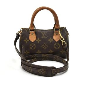 Speedy Vintage Mini Sac Hl Monogram Hand Brown Cotton Canvas Hobo Bag for Sale in San Bruno, CA