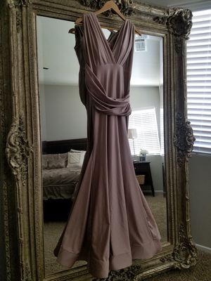 Blush elegant evening gown dress for Sale in Victorville, CA