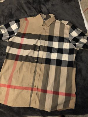 Burberry Button Up (Sz Large) for Sale in Chandler, AZ