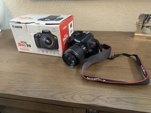 Canon T6 camera with extras for Sale in Lakeland, FL