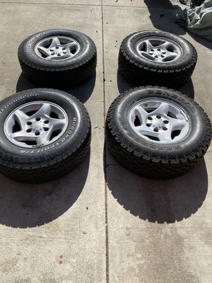 265/70R16 tires! 4 tires with rims!!! for Sale in San Bruno, CA