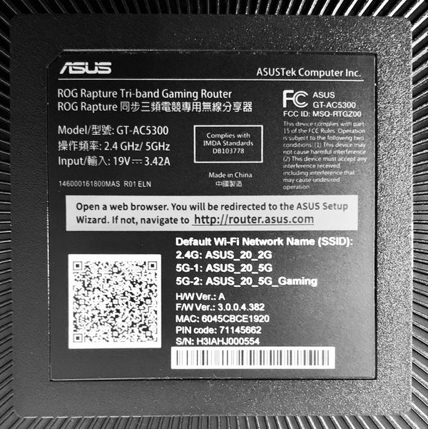 ASUS Rapture Gaming Router GT-AC5300 - FAST INTERNET WIFI