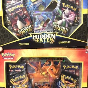 Pokemon Hidden Fates Charizard And Gyarados GX Collection Box for Sale in Glendale, CA