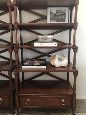 Wooden Bookshelves/Bookcases with bottom drawer solid wood for Sale in Carlsbad, CA