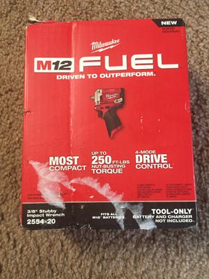 Milwaukee m12 fuel 3/8 stubby impact wrench brand new $120 for Sale in Vancouver, WA