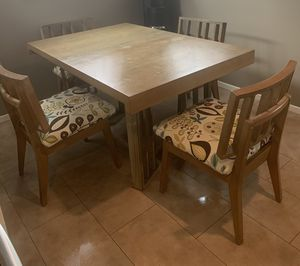 Vintage/Mid-Century table and 4 chairs for Sale in West Covina, CA