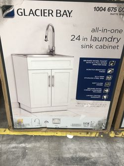 All In One 24 Inch Laundry Sink Cabinets for Sale in Indianapolis,  IN
