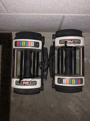 Powerblock dumbbell set - 20 lbs each for Sale in Central, SC