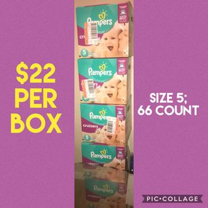 Size 5 Boxed Pampers Cruisers for Sale in Newport News, VA