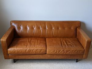 Apartment Size Leather Couch for Sale in Hillsboro, OR