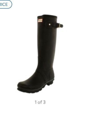 Women's size 7 black tall hunter rain boots for Sale in Hurst, TX