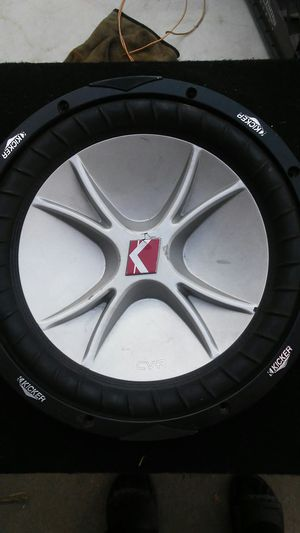 "12"" kicker cvr sub for Sale in Madera, CA"