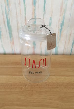RAE DUNN GLASS CANISTER/JAR/STORAGE CONTAINER for Sale in BELLEAIR BLF, FL
