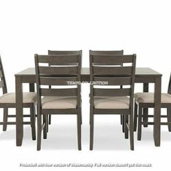 NEW, LIGHT BROWN 7 PC DININGR TABLE SET. for Sale in Ontario,  CA
