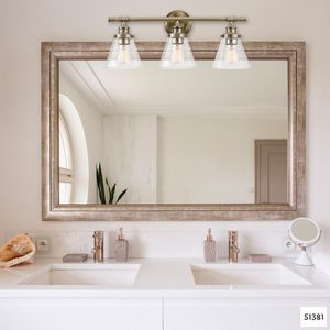 Globe Electric Parker 3-Light Antique Brass 5-Piece All-In-One Bath Vanity Light Set for Sale in Dallas, TX