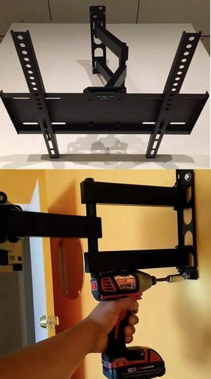 New in box 22 to 55 inches swivel full motion tv television wall mount bracket single arm for Sale in Los Angeles, CA