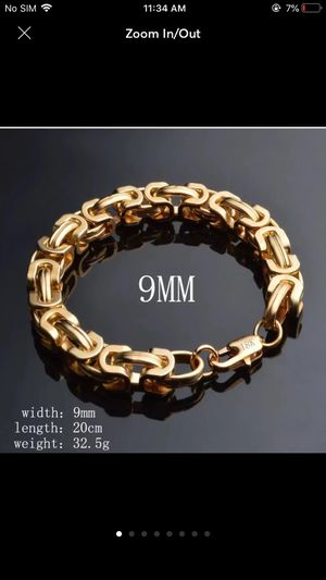 18k Gold plated heavy chain bracelet for Sale in Silver Spring, MD