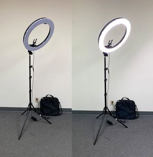 "(NEW) $90 each LED 19"" Ring Light Photo Stand Lighting 50W 5500K Dimmable Studio Video Camera for Sale in Whittier, CA"