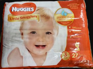 HUGGIES LITTLE SNUGGLERS SIZE 3 DIAPERS. BRAND NEW. for Sale in Monroe Township, NJ
