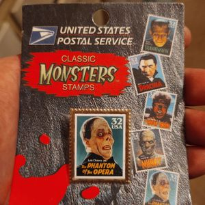 USPS collectable classic Monsters stamp pin. (phantom of the opera) for Sale in Fallbrook, CA