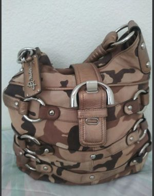 B. Makowsky Camo Leather Hobo Bag Shoulder Bag Tote Handbag Purse for Sale in McKinney, TX