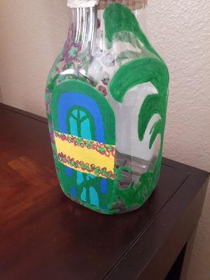 Home Decor Flower painted Vase Decorative bottle for Sale in Wylie, TX